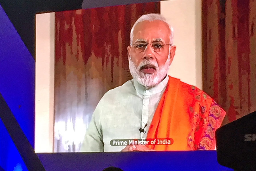 Prime Minister of India addressing the conference
