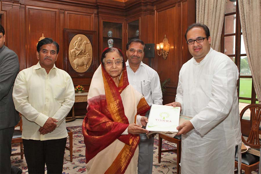 Certificate received from Mrs Pratibha Patil, Former President of India